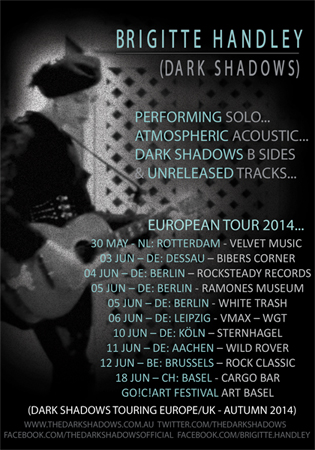 Brigitte Handley Acoustic Tour Europe 2014