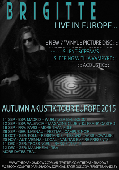 BRIGITTE  - SILENT SCREAMS AUTUMN AKUSTIK TOUR EUROPE 2015